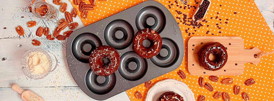 Donuts de Chocolate y Calabaza