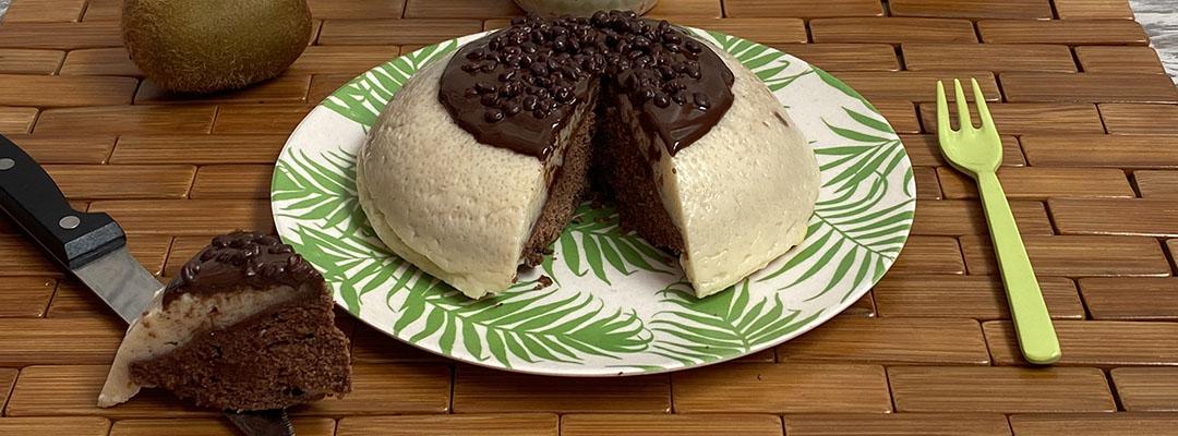 Portada Bomba de flan rellena de chocolate al microondas
