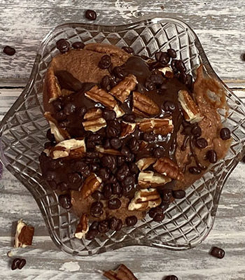 Portada Helado de chocolate cremoso con batata