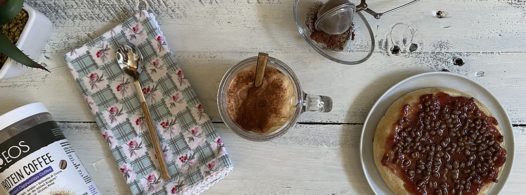 Portada Café Frappé alto en proteínas con crema