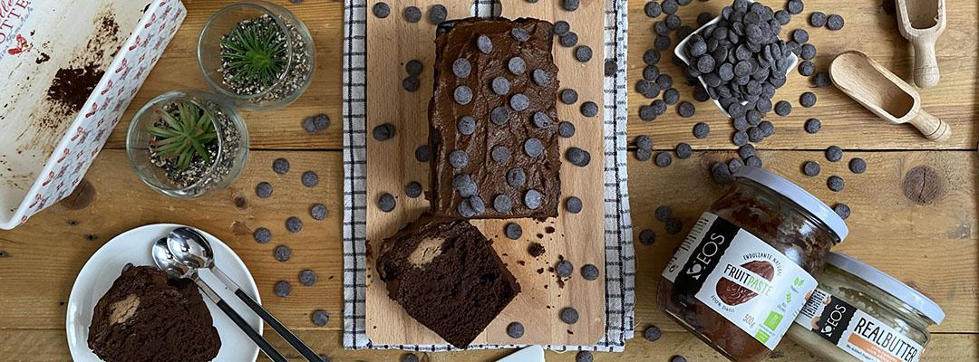 Portada Banana bread de chocolate relleno de cheesecake