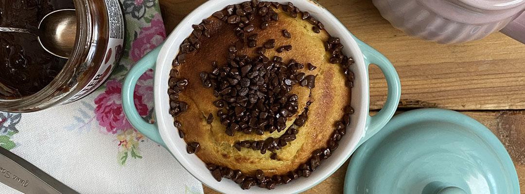 Portada Mugcake relleno de chocolate en airfryer