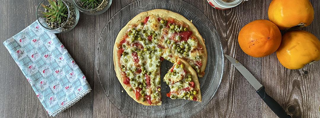 Portada Pizza con base de harina de garbanzo